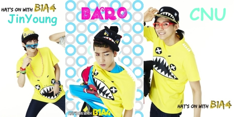 hats on B1A4