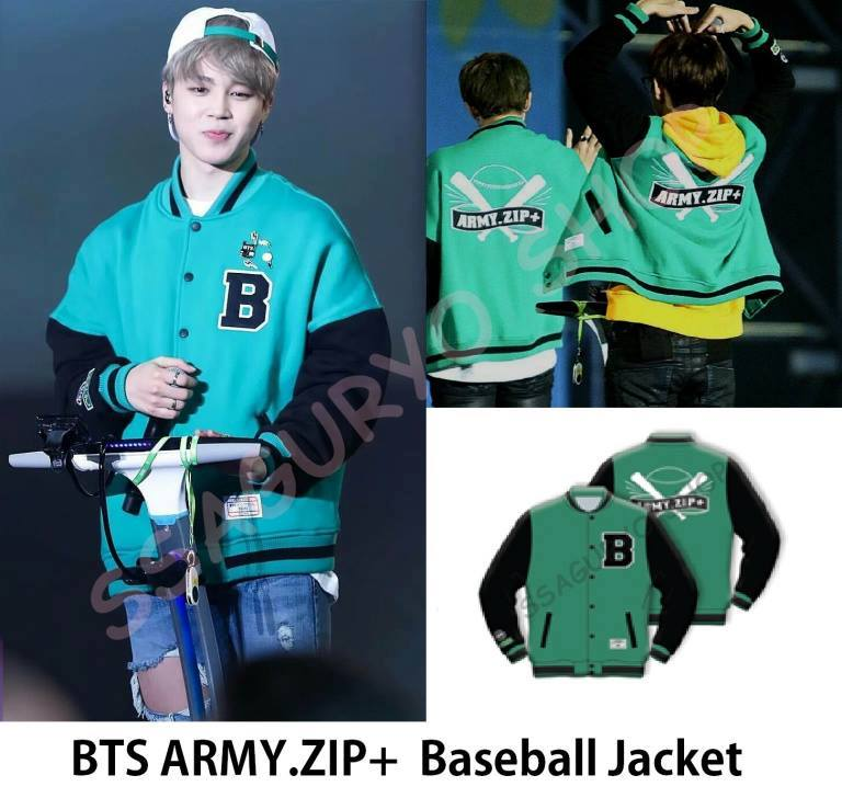 bts army zip+ baseball jacket
